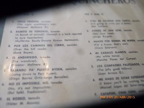 disco lp de los huasos quincheros --recuerdo de chile(u1085