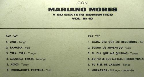 disco lp de mariano mores y su sexteto romantico