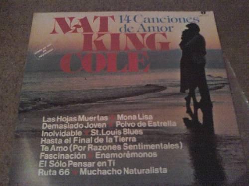 disco lp de nat king cole 14 canciones de amor