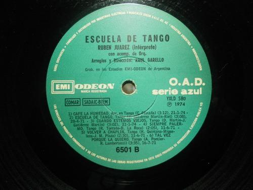 disco lp de vinilo  ruben juarez  escuela de tango