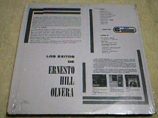 disco lp ernesto hill olvera - los exitos de - organista