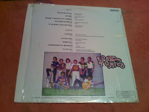 disco lp - los yonics ....en su punto