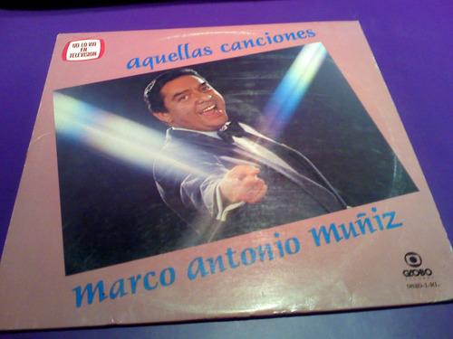 disco lp marco antonio muñiz aquellas canciones