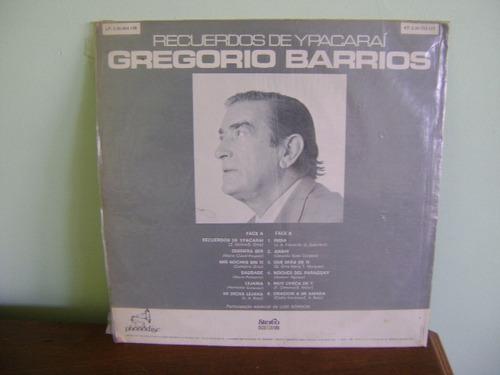 disco lp recuerdos ypacaraí gregorio barrios luis bordon