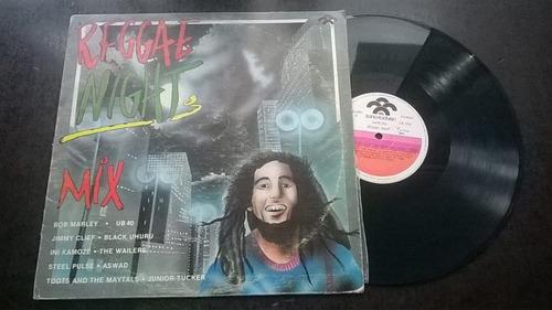 disco lp reggae night / mix / edicion venezuela