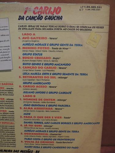 disco lp vinil - 1° carijo da canção gaúcha palmeira missões
