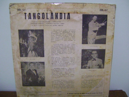 disco lp vinil juan canaro - tangolandia - tango