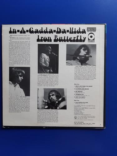 disco lp vinilo iron butterfly - in a gadda da vida usa 1968