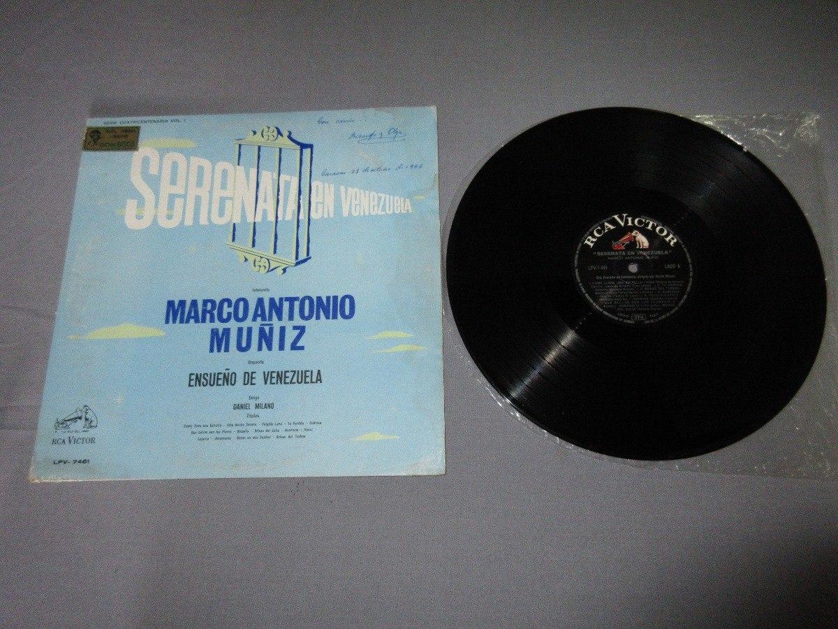 Disco Lp Vinilo Marco Antonio Muñiz / Serenata En Venezuela ...