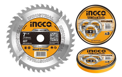 disco madera 7 1/4 p sierra circular ingco 40 d b/ 20 mm c r
