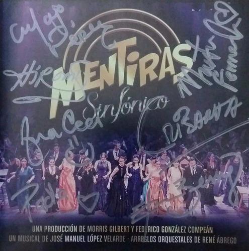 disco mentiras sinfónico autografíado por el elenco.