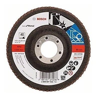 disco metal grano 40 4 1/2 x 7/8 bosch 13743