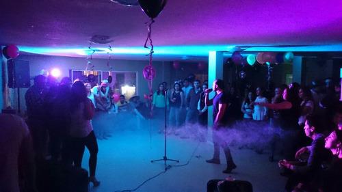disco movil dj animacion, luces laser maquina de humo