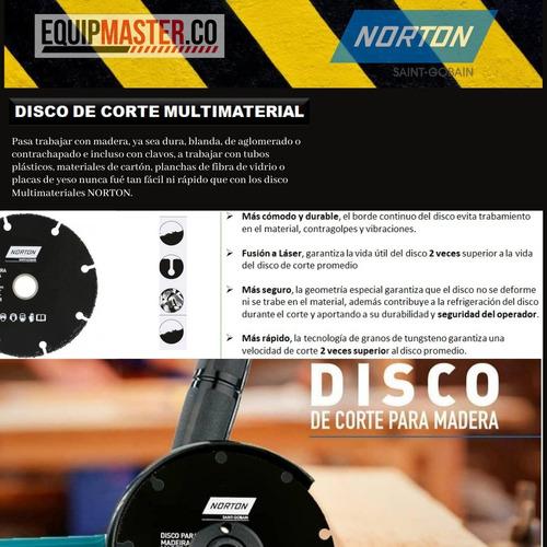 disco multimaterial 4-1/2 corta plástico madera yeso metal