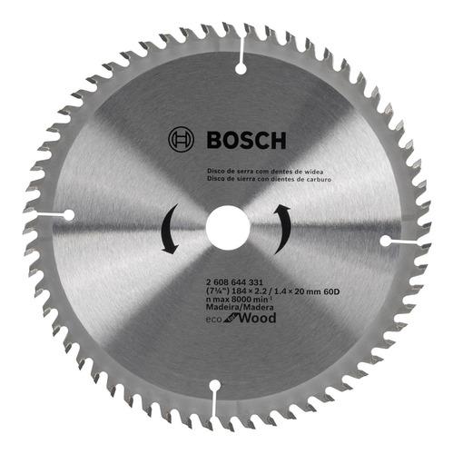 disco p/ serra circular eco 184mm original 60 dentes  bosch