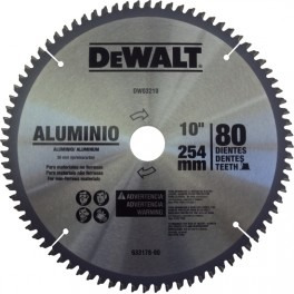 disco para corte de aluminio 10  dewalt, ingleteadora