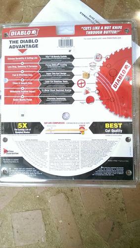 disco para sierra de 10p con 50 dientes marca freud diablo