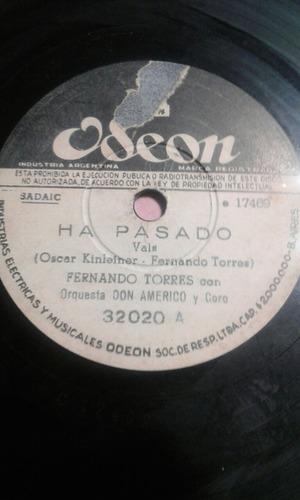 disco pasta 78 fernando torres y don americo lagrimas novia