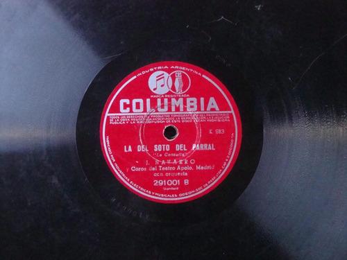 disco pasta 78 rpm coro teatro apolo madrid orquesta c7
