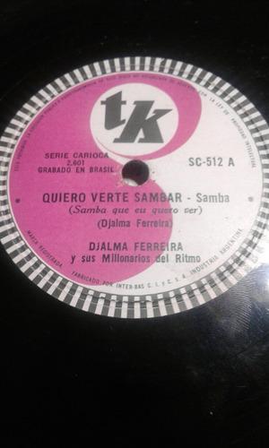 disco pasta 78 rpm djalma ferreira verte sambar bicharada