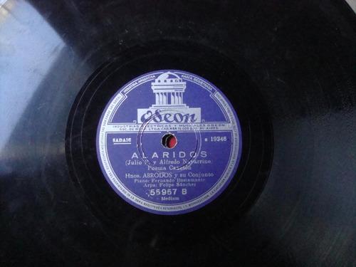 disco pasta 78 rpm hermanos abrodo y su conjunto c7