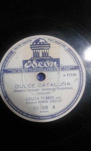 disco pasta 78 rpm lolita torres ramon zarzodo cataluña