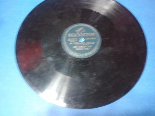 disco pasta 78 rpm rca victor juan d'arienzo la cumparsita