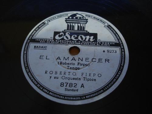 disco pasta 78 rpm roberto firpo orquesta tipica odeon c70
