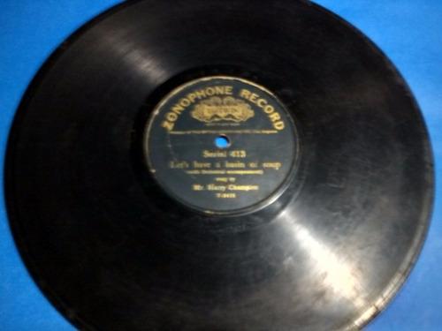 disco pasta 78 rpm zonophone record 413 mr harry champion