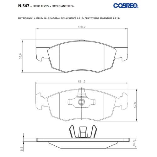 disco + pastilha freio dianteiro punto sporting 1.8 16v 2014