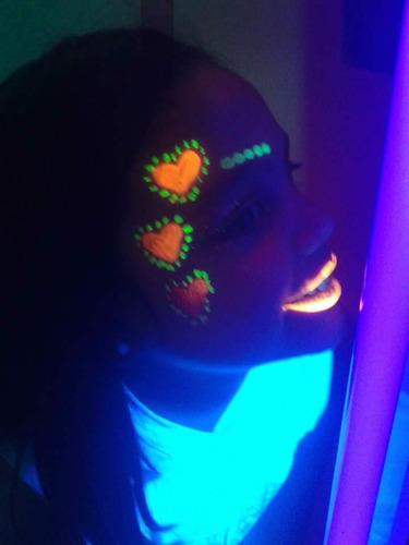 disco peque fluor neón luces, amplificación, animación