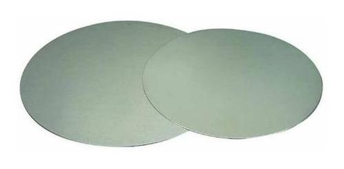disco plastificado cartón gris d. 20 cm. (x 100 u.) - 097