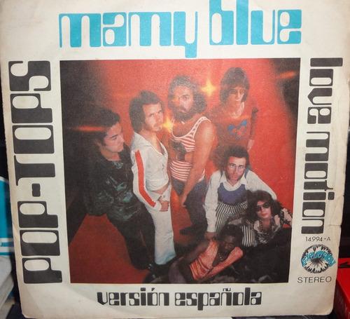 disco - pop top s- mamy blue- 45rpm - importado - 4500bs