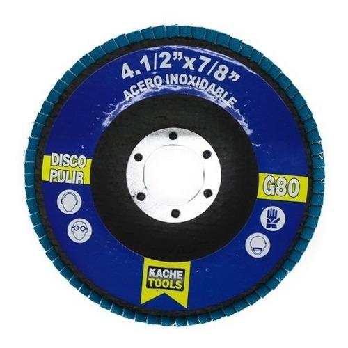 disco pulir acero inoxidable 4.1/2*7/8  grano 80 kache tools