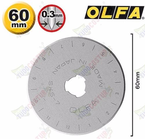 disco refil cortador circular patchwork scrapbook 60mm olfa