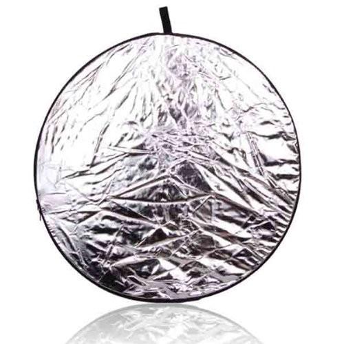 disco reflector de luz grande -110 cms  5 en 1 con estuche