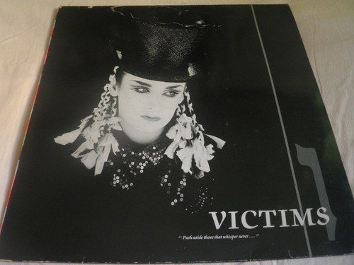 disco remix vinyl importado de culture club - victims (1983)