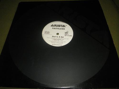 disco remix vinyl importado faithless - god is a dj (1998)