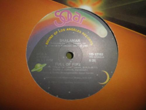 disco remix vinyl importado shalamar - full of fire (1980)