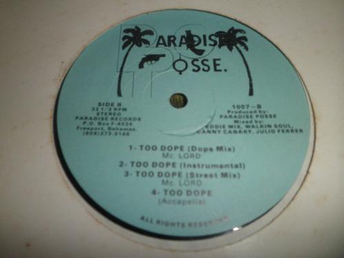 disco remixes en vinyl de paradise posse - varios artistas