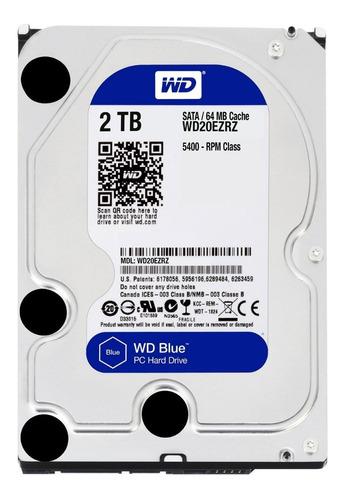 disco rigido 2tb pc western digital blue 64mb 5400rpm sata3