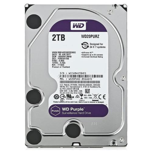 disco rigido 2tb wd purple para video vigilancia cctv