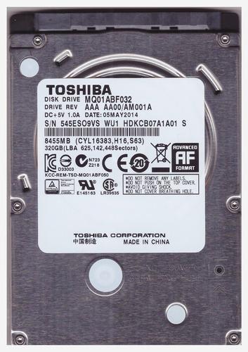 disco rigido 320gb sataii hd notebook netbook 5400 rpm usado