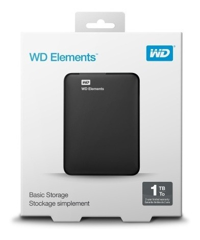 disco rigido externo 1t wd port  elements  usb 3