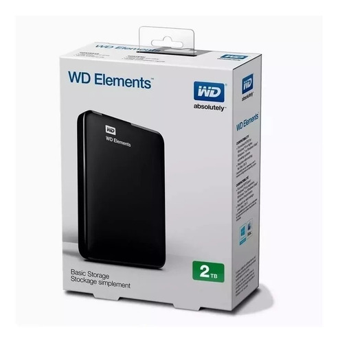 disco rigido externo 2tb wd western digital elements envio