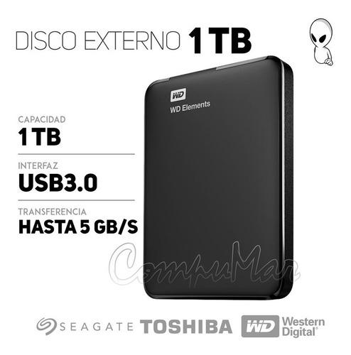 disco rígido externo portátil wd elements 1tb usb 3.0