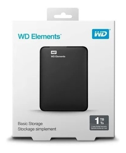 disco rígido externo portátil wd western digital 1tb cuotas