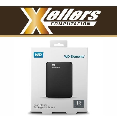 disco rígido externo portátil wd western digital 1tb xellers