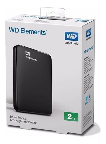 disco rigido externo portatil w.digital  2tera