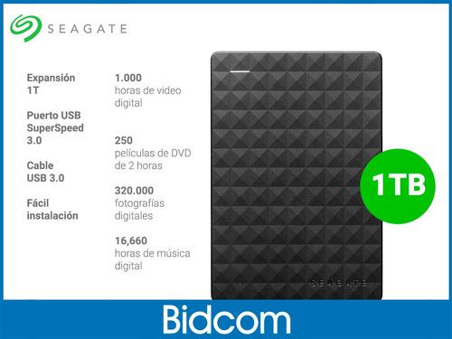 disco rigido externo seagate 1tb usb 3.0 expansion bidcom